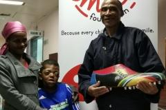 9 year old Sibabalwe Mpingelwani and parents