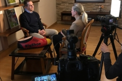 Verena Bentele asks Philipp Lahm about his engagement in South Africa; April 2019